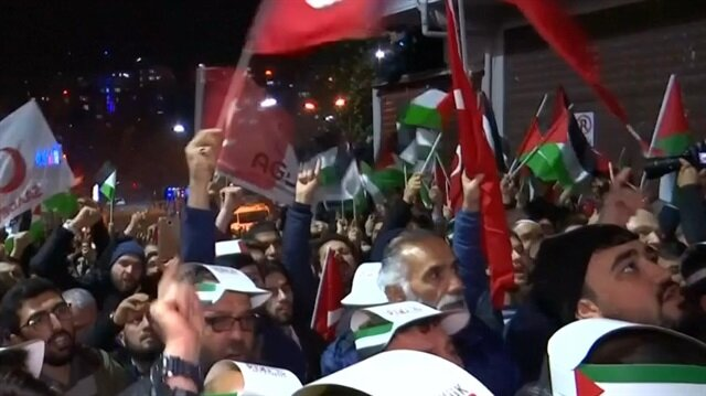 Hundreds protest in Istanbul, Ankara over Trump's Jerusalem move