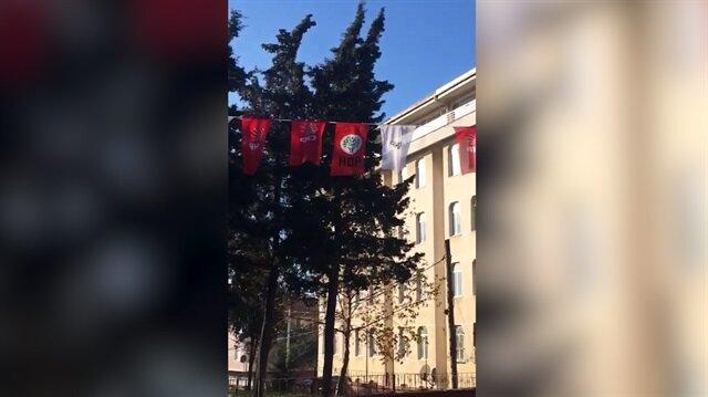 CHP ve HDP bayrakları Malkara'da aynı ipte dalgalanıyor