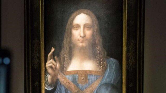 """Prens Bader rekor fiyata aldığı tabloyu, Riyad'ın müttefiki Abu Dabi'de kurulan çakma """"Louvre"""" müzesine sergilenmesi amacıyla teslim etti."""
