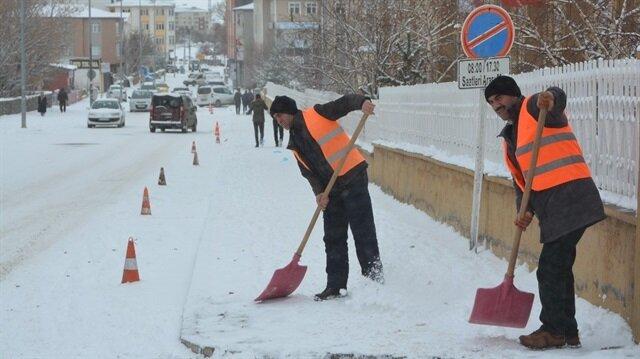 Ardahan'da kar yağışı sebebiyle okullar tatil edildi.