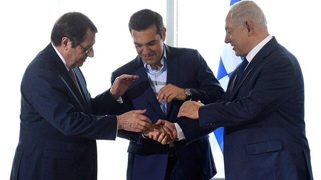 Arşiv: Yunanistan, Güney Kıbrıs Rum Kesimi ve İsrail liderleri, 15 Haziran'da Selanik'te üçlü zirve gerçekleştirmişti.