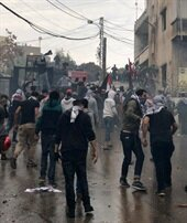 Beyrut'ta ABD Konsolosluğu önünde çatışma