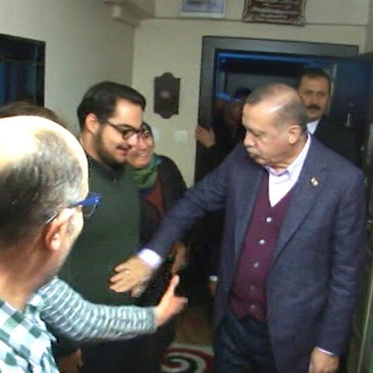 Erdoğan'dan adaşı olan üçüzlere ev ziyareti