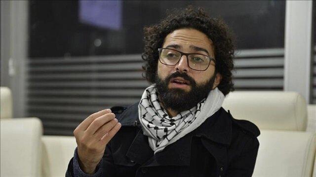 Palestinian film director and screenwriter Nawras Abu Saleh