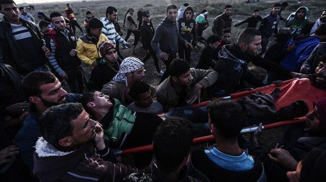 İsrail gerçek mermiyle müdahaleye devam ediyor