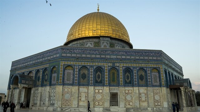 Dome of the Rock at the al-Aqsa Mosque in Jerusalem.