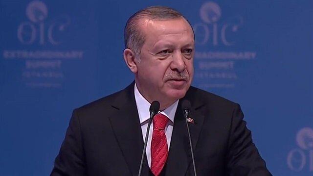 Erdoğan: Kudüs'ü Filistin'in başkenti ilan edelim