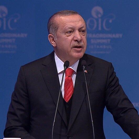 Erdoğan'dan net mesaj: Kudüs Filistin'in başkentidir