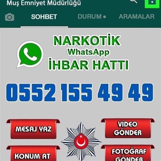 Muş'ta uyuşturucuyla mücadele için 'WhatsApp İhbar Hattı' kuruldu