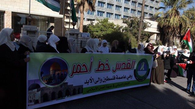 Ürdünlü kadınlardan 'Kudüs' eylemi