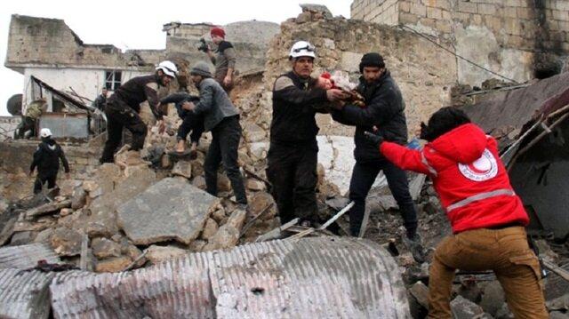 İdlib'deki hava saldırısında 10 kişi öldü