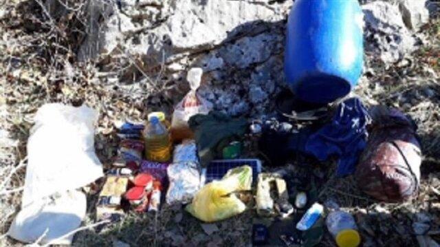 Terör örgütü PKK'ya ait ele geçirilen mühimmatlar