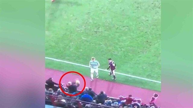 Hearts taraftarından Celticli futbolcuyu çıldırtan hareket