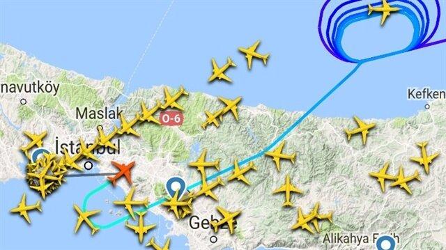İstanbul'da akşam saatlerinde etkisini arttıran şiddetli sağanak yağış, hava trafiğini olumsuz yönde etkiledi.