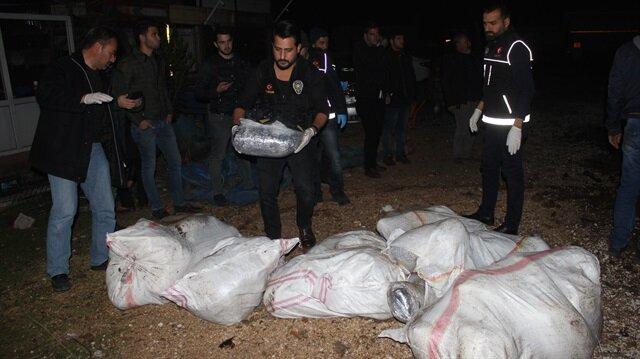 Polis ekiplerinin ele geçirdiği uyuşturucu maddeler
