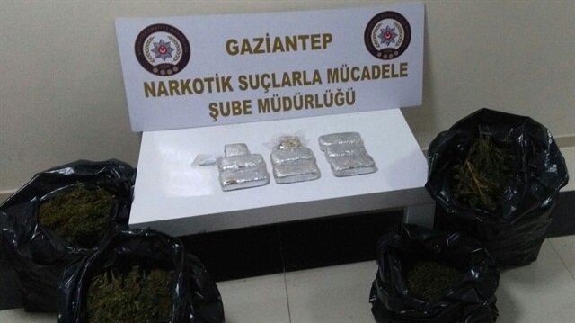 Gaziantep'te 30 kilogram uyuşturucu ele geçirildi