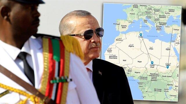 Cumhurbaşkanı Erdoğan'ın Afrika temasları sürüyor