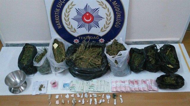 Tekirdağ'daki uyuşturucu operasyonunda 3 kişi gözaltına alındı