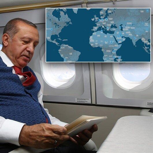 Erdoğan 2017'de dünyanın etrafını 4 kez dolaştı