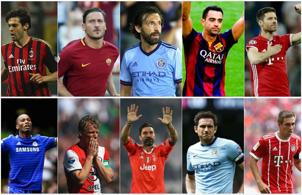 Futbola veda eden efsaneler.