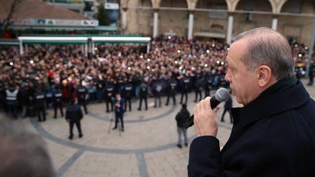 Cumhurbaşkanı Erdoğan, Düzce'de halka hitap etti