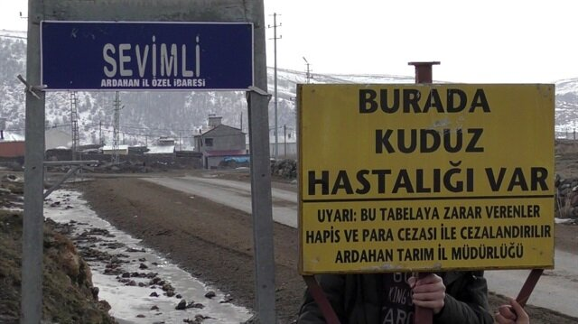 Ardahan'da bir ilçe ve üç köy karantinaya alındı