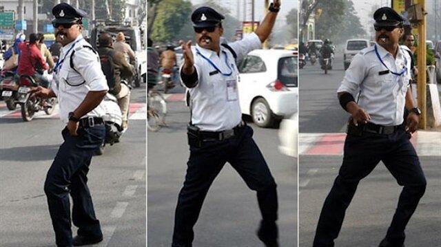 Dünyanın en sıradışı trafik polisi