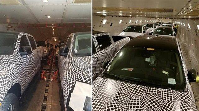 Tesla'nın 'pick-up'ı uçakta görüntülendi