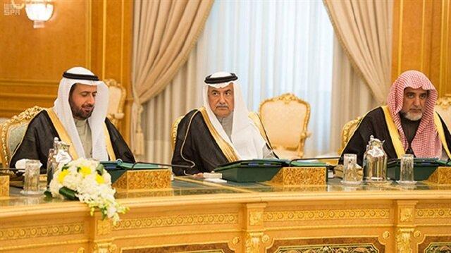 Arabistan Maliye Bakanı İbrahim el Assaf Bakanlar Kurulu'nda.
