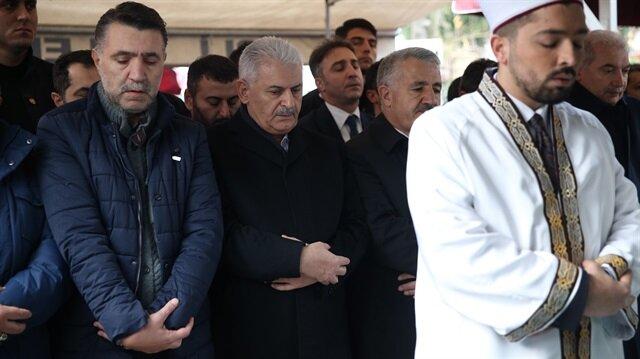 Başbakan Binali Yıldırım da cenaze törenine katıldı.