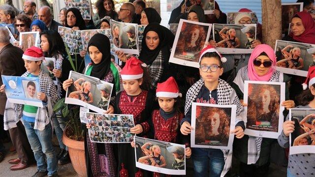 """""""Filistinli cesur kız"""" Temimi'ye destek gösterileri devam ediyor"""