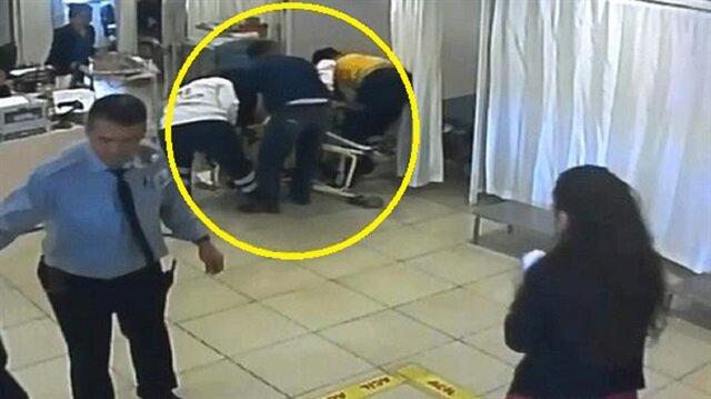 Acil serviste sedyeden düşürülen kadının görüntüleri 1 ay sonra ortaya çıktı.