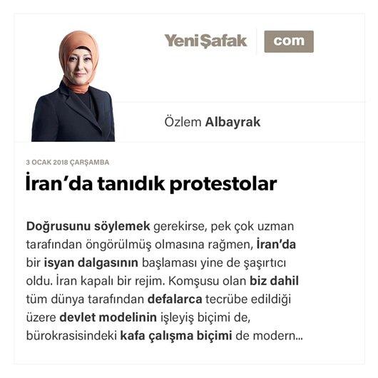 İran'da tanıdık protestolar
