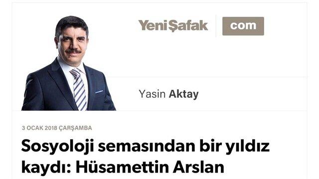 Sosyoloji semasından bir yıldız kaydı: Hüsamettin Arslan