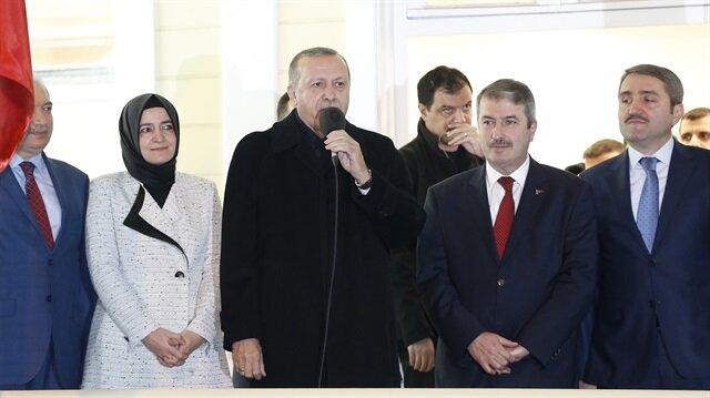 Cumhurbaşkanı Erdoğan Sarıyer'de halka hitap etti