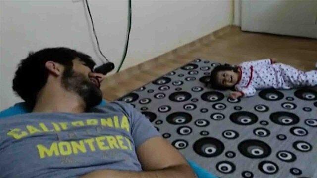 Şehit polisin kızıyla son görüntüleri yürekleri dağladı