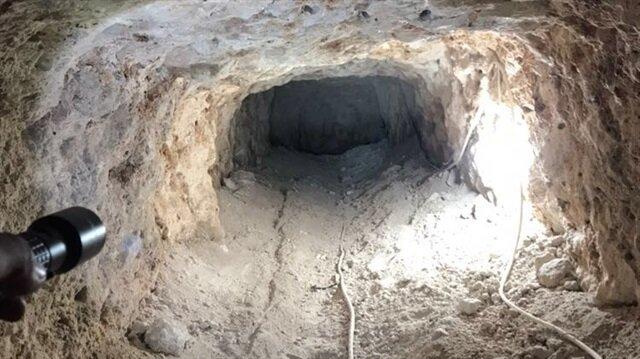 Defineciler 25 metrelik tünelde yakalandı
