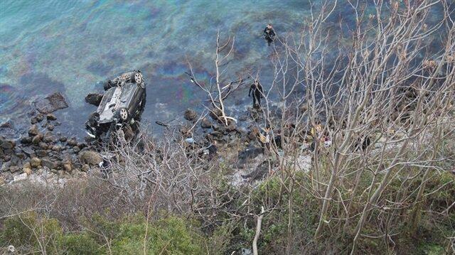Sarıyer'de denize düşen otomobilin sürücüsü öldü