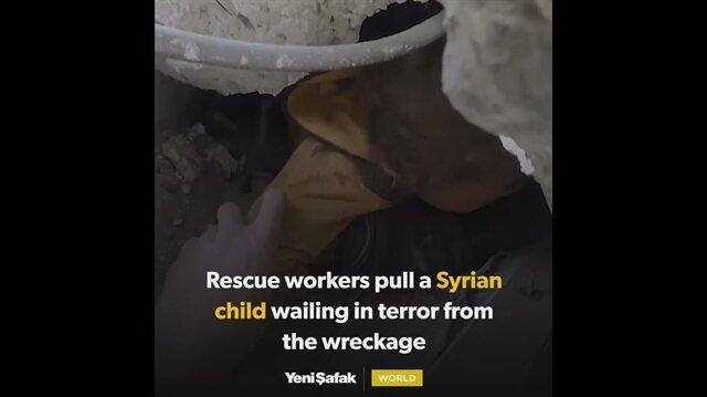 Assad regime airstrikes continue to devastate Eastern Ghouta children suffocate under rubble