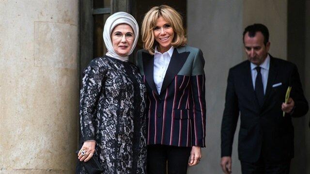 أمينة أردوغان تدعو نظيرتها الفرنسية إلى زيارة تركيا