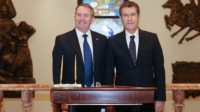 لقاء وزيري الدفاع التركي والتجارة الدولية البريطاني بأنقرة