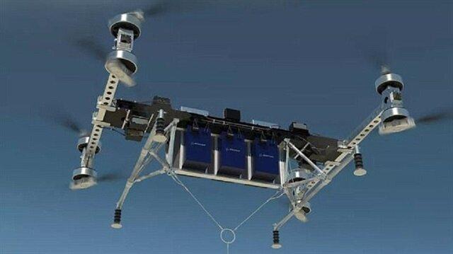 Boeing'in dev kargo drone'u 227 kg yük taşıyabiliyor.