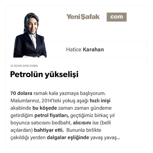 Petrolün yükselişi