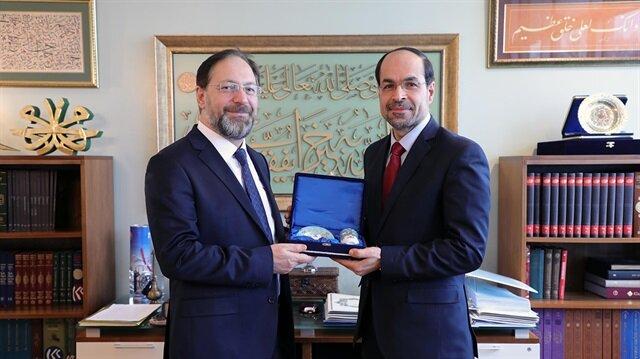 رئيس الشؤون الدينية التركي يلتقي نهاد عوض في ماريلاند