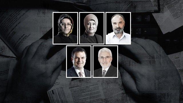 Fatma Barbarosoğlu, Özlem Albayrak, Hayrettin Karaman, Kemal Öztürk ve Hasan Öztürk.