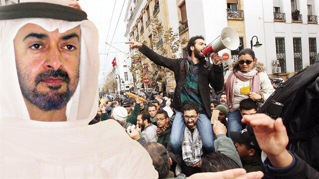 Ortadoğu'nun çıbanbaşı BAE, Katar, Mısır ve Yemen'den sonra Tunus'ta kaos ve Suriye'de krizi derinleştirmek için harekete geçti