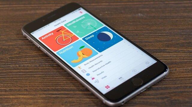 iPhone'un sağlık uygulaması, kişinin günlük aktivitelerini ölçerek her gün raporlama yapıyor.