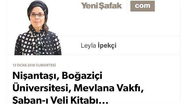 Nişantaşı, Boğaziçi Üniversitesi, Mevlana Vakfı, Şaban-ı Veli Kitabı...