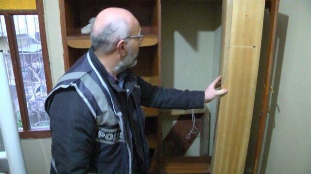 Polis bile şaştı kaldı: Evdeki gizli bölmeden çıktı