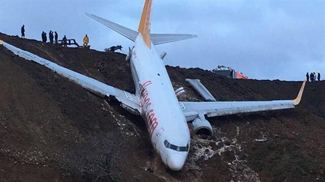Trabzon'da uçağın pistten çıkmasına soruşturma